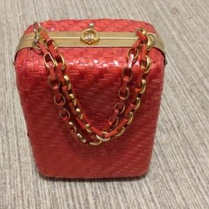 vintage wicker purse from the 60s